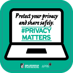 Poster 5: Protect your privacy and share safely. #PrivacyMatters. Office of the Privacy Commissioner for Personal Data, Hong Kong. APPA.